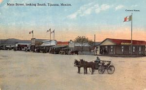 Mexico Old Vintage Antique Post Card Main Street Looking South Tijuana Black ...