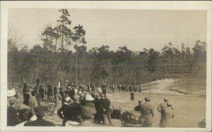 Golf Golfing Pinehurst NC or Augusta GA??? Unidentified Real Photo Postcard #3