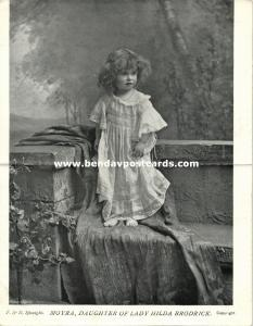 Lady Moyra, Daughter of Lady Hilda Brodrick (1902) Double Postcard