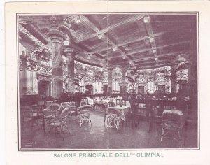 TC: GENOVA, Italy, 1880s; Salone Principale Dell OLIMPIA,Ristorante