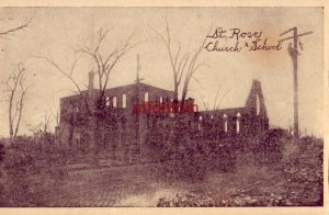 ST. ROSE CHURCH X SCHOOL CHELSEA, MA ruins after fire of 1908