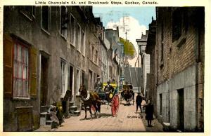 Canada - Quebec, Quebec City. Little Champlain St and Breakneck Steps