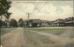 West Stewartstown NH RR Train Station Depot c1910 Postcard