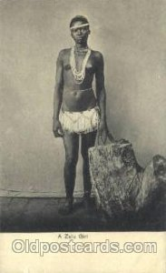 A Zulu Girl African Nude Unused small tear left bottom edge with small crease...