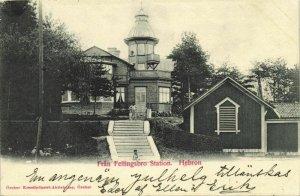 sweden, HEBRON, Från Fellingsbro Station (1902) Postcard
