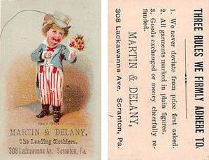 Approx Size Inches = 2 x 3.25  Trade Card