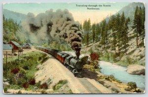 Grand Forks ND~Passenger Steam Engine Train Rumbling Through the Northwest~1912