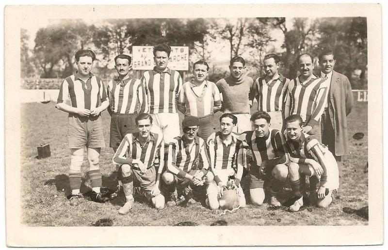 France Cannes 1920s Football Soccer team postcard