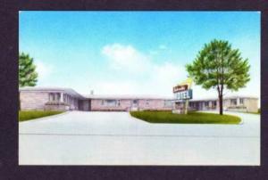 WI Lakeside Motel Front St ASHLAND WISCONSIN POSTCARD