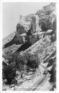 Automobile Big Horn Mountains Shell Canyon 1940s RPPC Photo Postcard 20-950