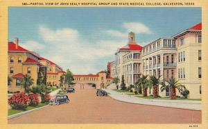 Partial View of John Sealy Hospital Group and State Medical College Partial V...