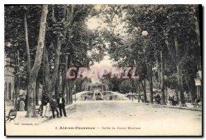 Old Postcard Aix en Provence Exit Cours Mirabeau
