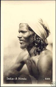 india, Native Hindu Male (1930s) RPPC