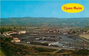 Tijuana BC Mexico~Aerial~International Border~RR Tracks~Hutchinson Bros Inc~1960