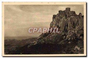 Old Postcard Landscapes and stones Provence Ruins of Chateau des Baux