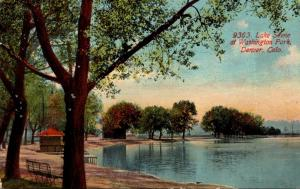 Colorado Denver Washington Park Lake Scene 1912