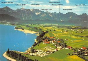 Forggensee Ostallgaeu Camping Place Aerial view Lake Panorama Rossberg Schlicke