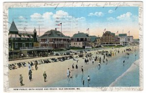 Old Orchard, Me, New Public Bath House and Beach