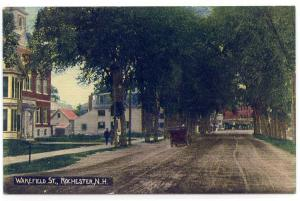 Rochester, New Hampshire, View of Wakefield Street, 1912