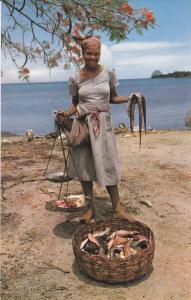 MARTINIQUE , Trois-Rivieres , Fishmonger , 50-60s