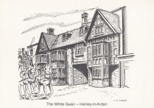 The White Swan Henley In Arden Warwickshire Pub Postcard
