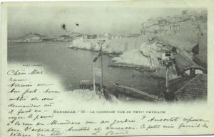 france, MARSEILLE, Corniche Vue du Petit Pavillon 1902