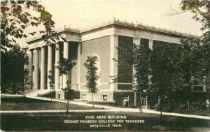 College Fine Arts Building Peabody Nashville Tennessee 1940s Postcard 4161