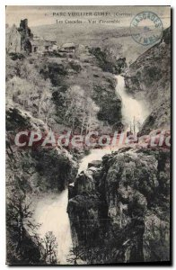Postcard Old Park Vuillier Gimel The Waterfall On Overview