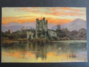 Ireland KERRY Ross Castle Killarney c1905 by S. Hildesheimer Art by E.Longstaffe
