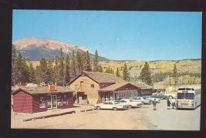 FRISCO COLORADO ANTLERS CAFÉ BAR RESTAURANT 1960's CARS VINTAGE POSTCARD