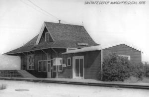 Marchfield California Santa Fe Railroad Depot Real Photo Postcard K103791