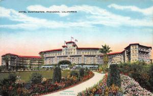 Hotel Huntington, Pasadena, California, Early Postcard, Unused