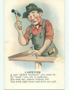 Pre-Linen MAN WORKING AS CARPENTER J3068