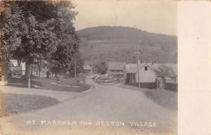 Weston Village Vermont Mt Markham Real Photo Antique Postcard K79591