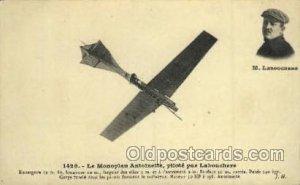 Le Monoplan Antoinette Laboucherk Unused small crease towards right corner