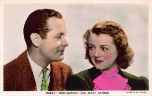 Robert Montgomery and Janet Gaynor Metro Goldwyn Mayer Postcard