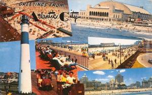 Atlantic City New Jersey~Multiple Beach Views~1958 Lighthouse