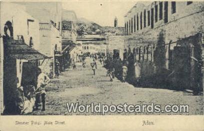Aden Republic of Yemen Steamer Point, Main Street Aden Steamer Point, Main St...