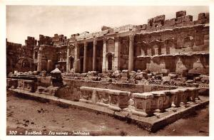 Lebanon Baalbeck - Les ruines - Interieur, real photo