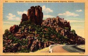 Arizona Globe-Miami-Superior Highway The Mitten Above Devil'...
