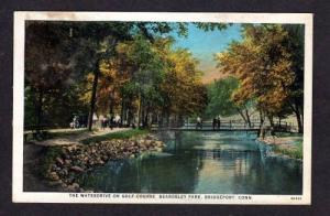 CT Golf Course Beardsley Park BRIDGEPORT Conn Postcard Connecticut