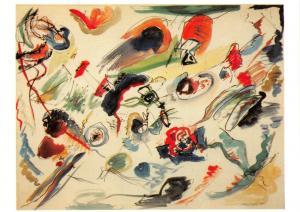 Art Postcard, Sans titre - Premiere abstraction (1910) by Wassily Kandinsky 81U