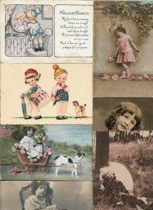 Artist Signed Kids Vintage Postcard Lot of 20   01.16