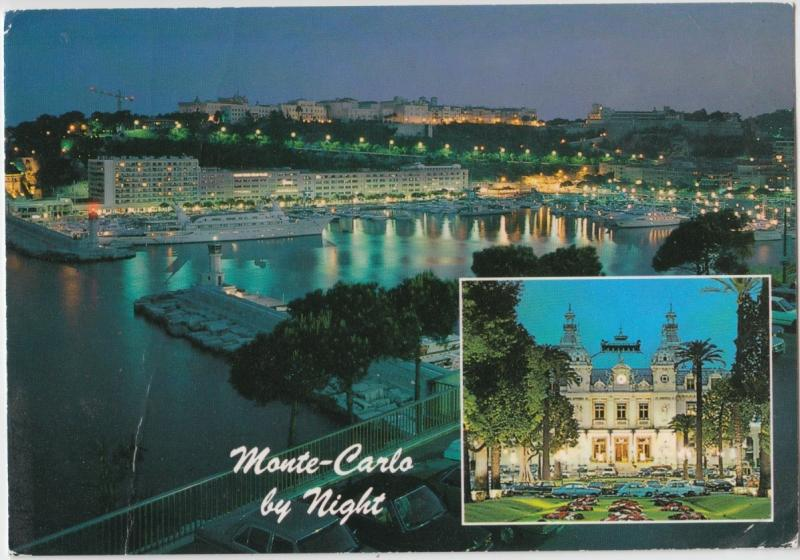 Monte-Carlo by night, 1992 used Postcard