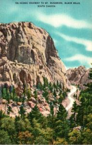 South Dakota Black Hills Scenic Highway To Mount Rushmore