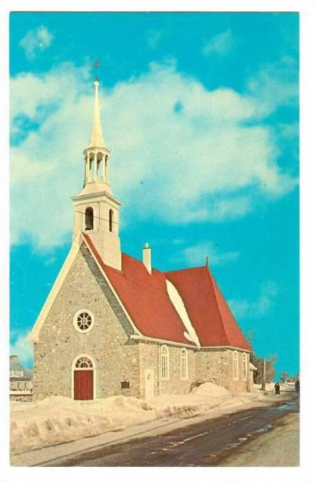 Church of St Pierre, Ile D'Orleans, Quebec, Canada, 40-60´s