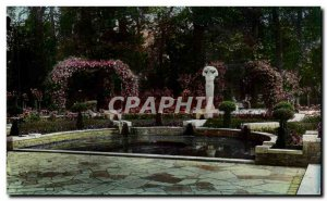 Bourges Old Postcard Garden Fichaux near Fountain of the God Pan