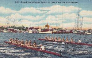 PALM BEACH, Florida, PU-1952; Annual Intercollegiate Regatta On Lake Worth