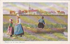 Netherlands Marken Gezicht op het dorp
