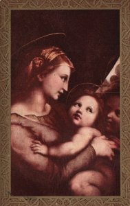 ?Vintage Postcard 1900s Mother and Child New Baby Family Love Religious  Artwork